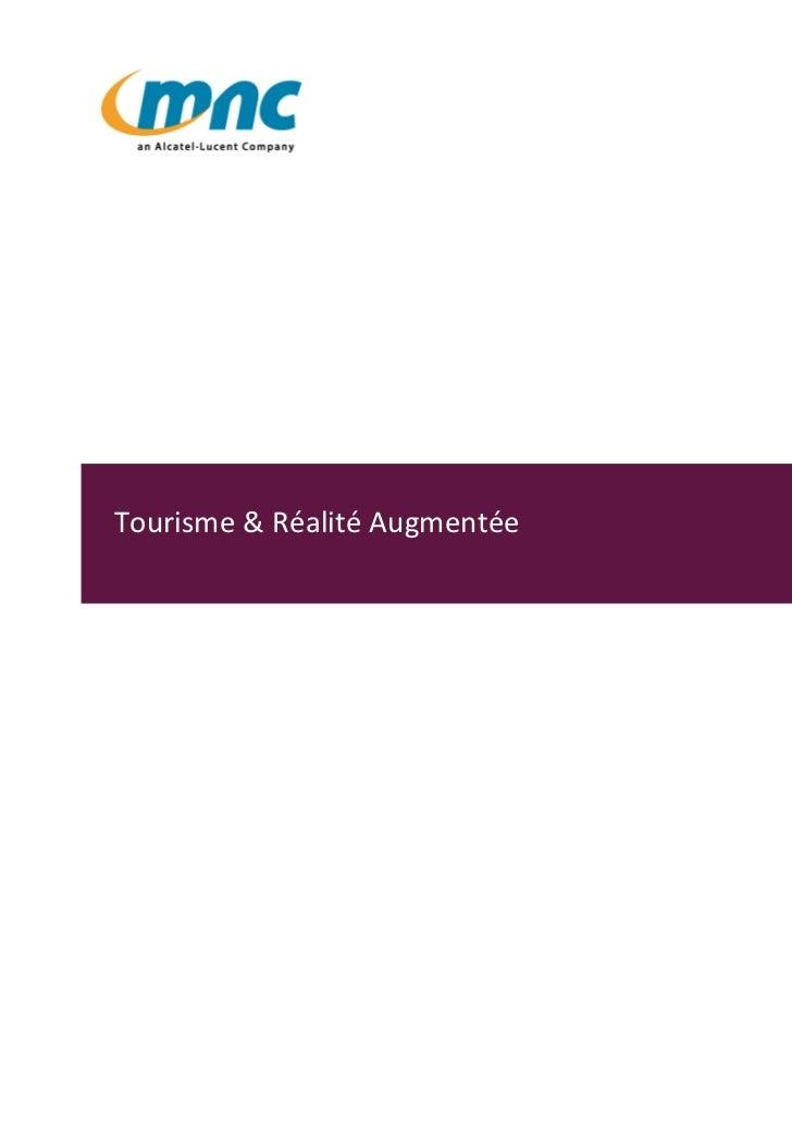 Tourisme & Réalité Augmentée