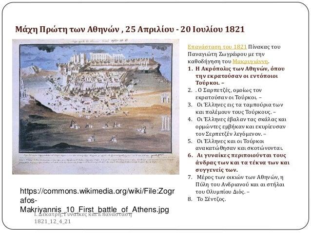 https://commons.wikimedia.org/wiki/File:Zogr afos- Makriyannis_10_First_battle_of_Athens.jpg Επανάσταση του 1821 Πίνακας τ...