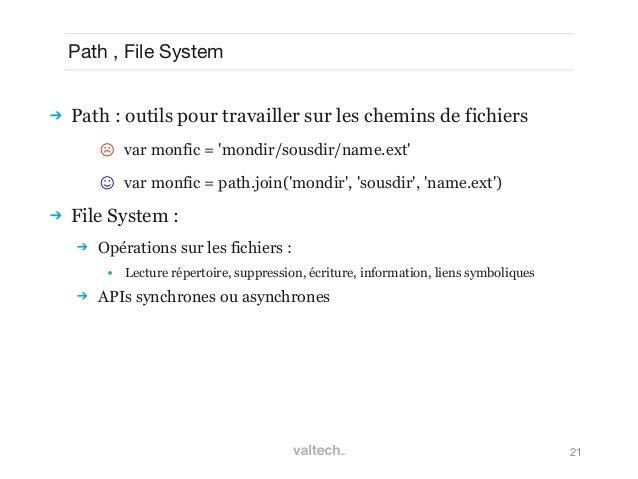 21Path , File System Path : outils pour travailler sur les chemins de fichiers☹ var monfic = mondir/sousdir/name.ext☺ va...