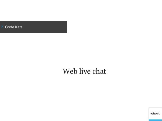 7. Code KataWeb live chat