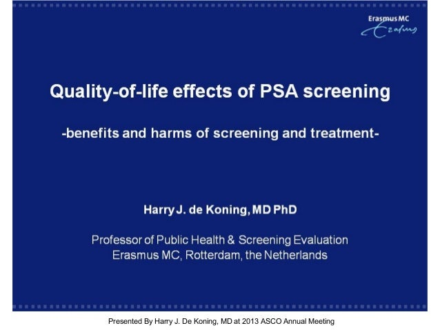 [TITLE]Presented By Harry J. De Koning, MD at 2013 ASCO Annual Meeting