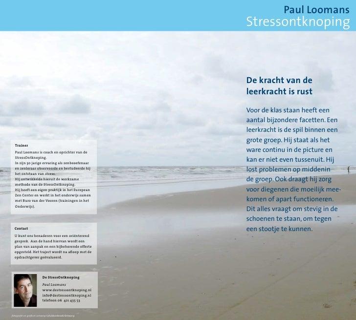 Paul Loomans                                                        Stressontknoping                                      ...