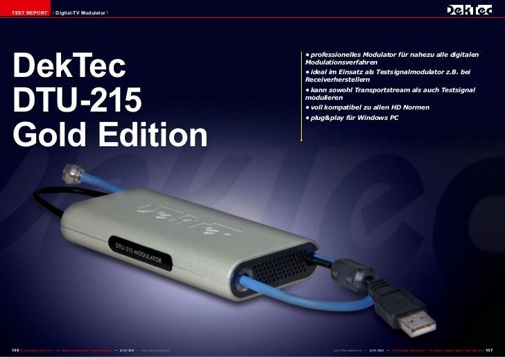 TEST REPORT                     Digital-TV ModulatorDekTec                                                                ...