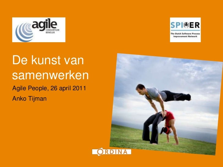 1De kunst vansamenwerkenAgile People, 26 april 2011Anko Tijman