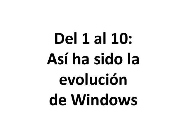 Del 1 al 10: Así ha sido la evolución de Windows