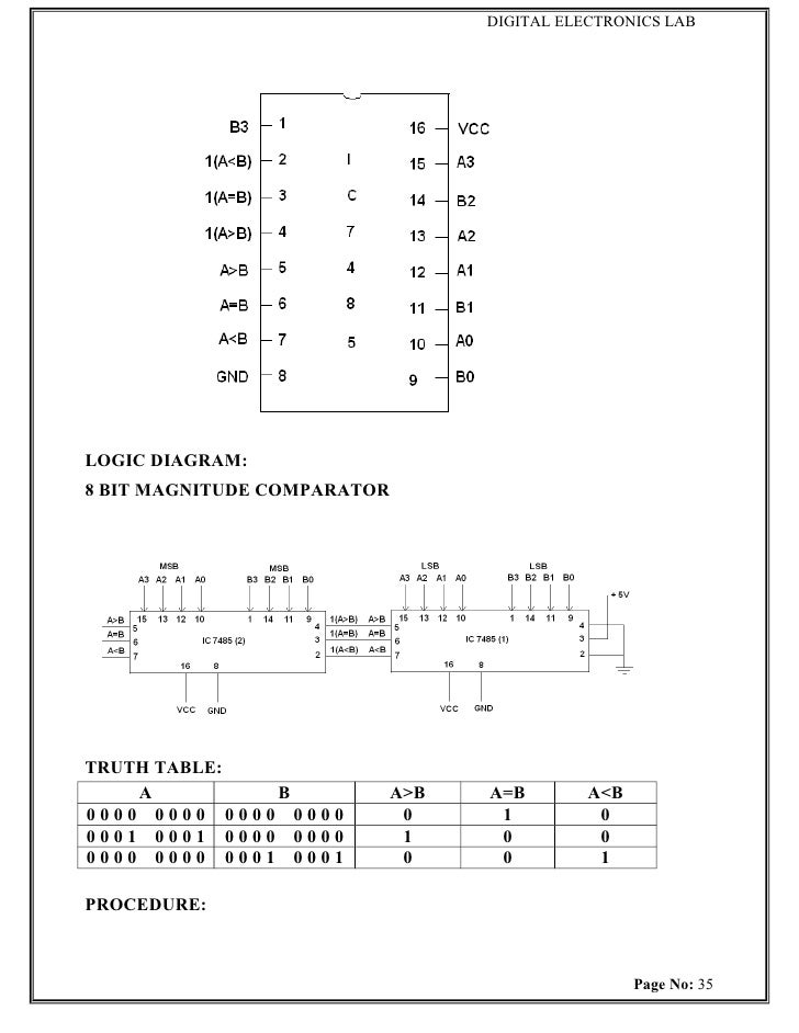 diagram for ic 7485: page no: 34