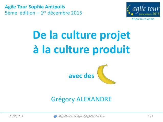 #AgileTourSophia Agile Tour Sophia Antipolis 5ème édition – 1er décembre 2015 #AgileTourSophia (par @AgileTourSophia) De l...