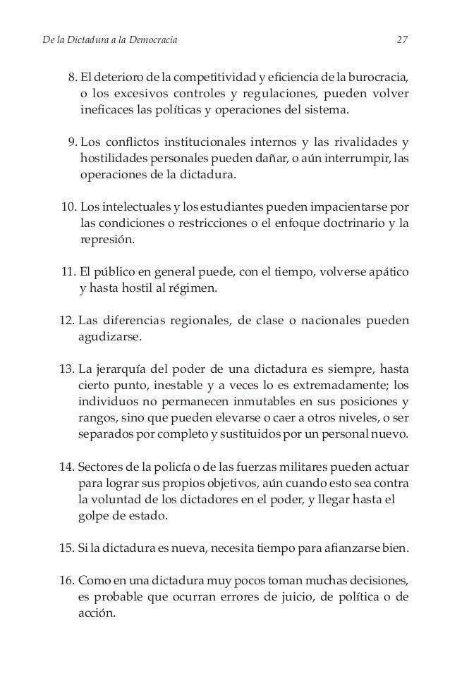Cinco  Ejerciendo el Poder En el Capítulo Uno advertimos que la resistencia armada contra las dictaduras no las afecta don...