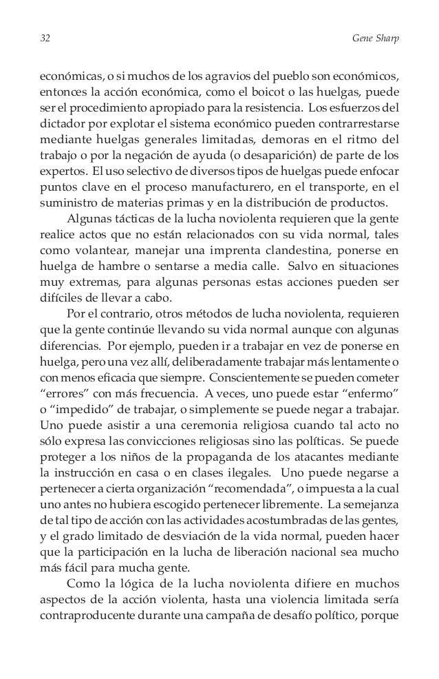 34  Gene Sharp  Franqueza, clandestinidad y comportamiento intachable La clandestinidad, el engaño y la conspiración subte...