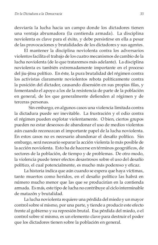 De la Dictadura a la Democracia  35  Cambios en las relaciones de poder Los estrategas necesitan recordar que el conflicto...