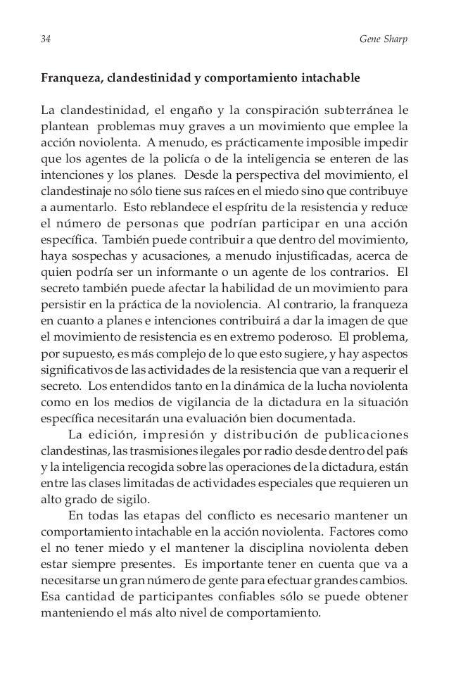 36  Gene Sharp  emocionalmente por los sufrimientos que la represión ha infligido en los valientes activistas de la resist...