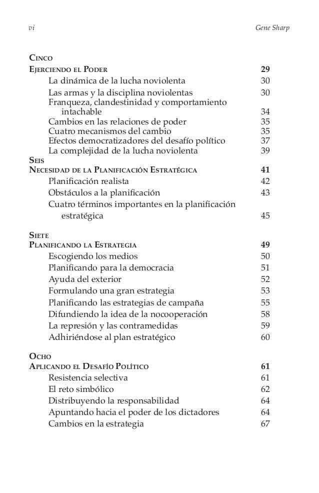 De la Dictadura a la Democracia  vii  Nueve Desintegrando la Dictadura 69 La escalada de la liberatad 71 Desinte...