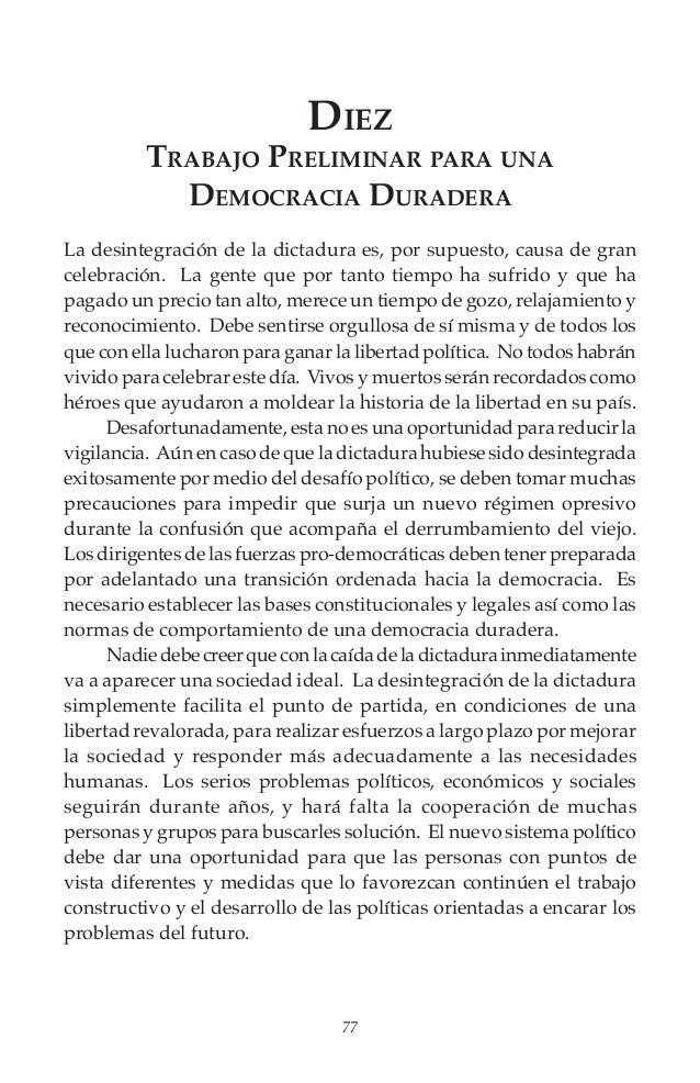 De la dictadura a la democracia