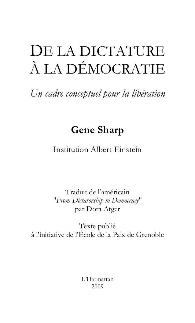 SHARP TÉLÉCHARGER DE LA GENE À LA DÉMOCRATIE DICTATURE