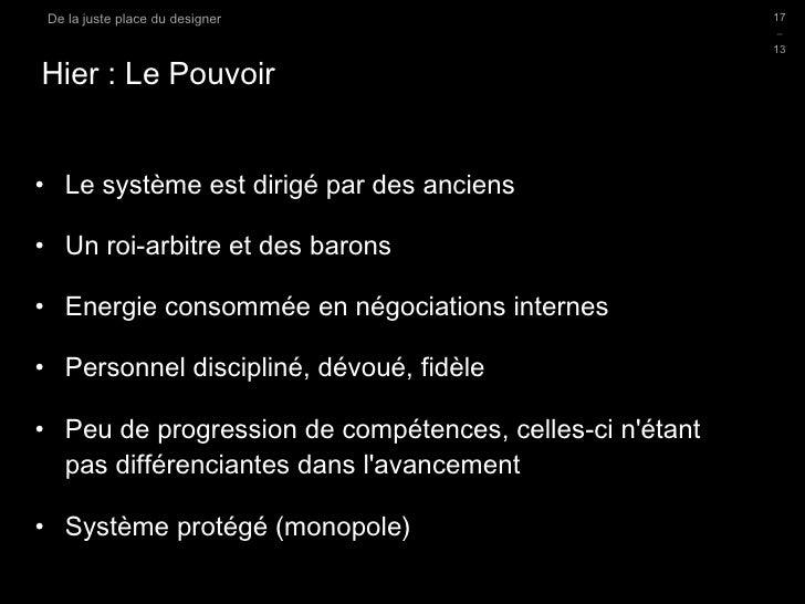 Hier : Le Pouvoir <ul><li>Le système est dirigé par des anciens </li></ul><ul><li>Un roi-arbitre et des barons </li></ul><...