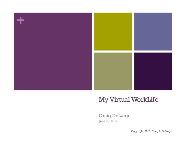 +My Virtual WorkLifeCraig DeLargeJune 6, 2013Copyright, 2013, Craig A. DeLarge