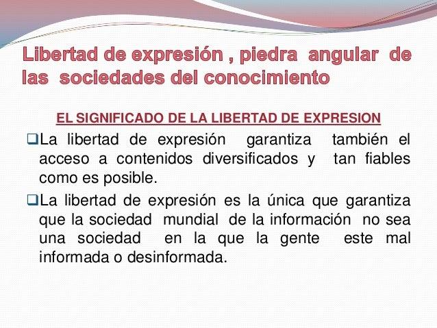"""Libertad de expresión = """"Libertad Negativa""""La libertad de expresión vs restricciones yobligaciones impuestas por el Esta..."""