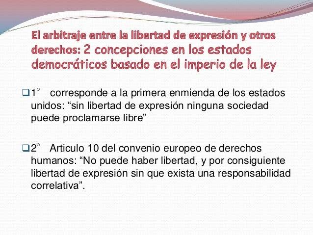 Los beneficios de la libre circulación de lainformación y las ideas no se limitan a la garantía delos derechos fundamenta...