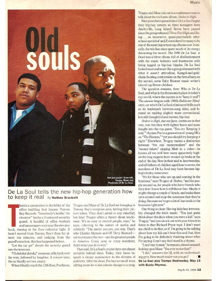De La Soul in Time Out New York