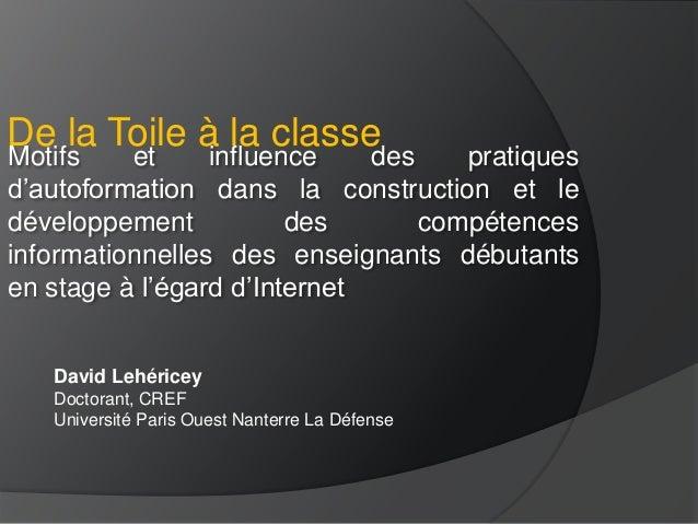 Motifs et influence des pratiques d'autoformation dans la construction et le développement des compétences informationnell...