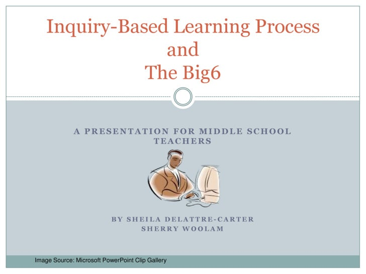 A Presentation for Middle school teachers<br />By Sheila DeLattre-Carter <br />Sherry Woolam<br />Inquiry-Based Learning P...