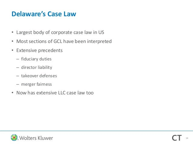 Delaware's Business Entity Laws