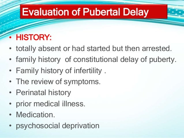Delayed puberty ppt