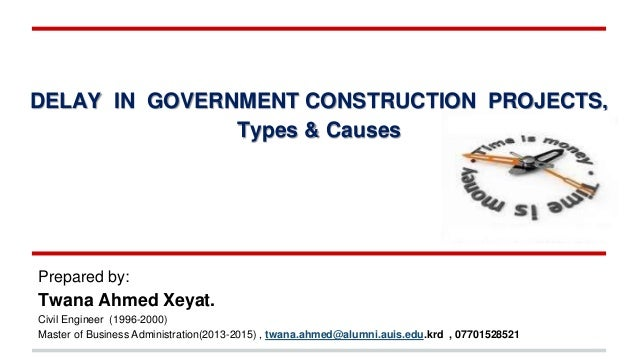 Dissertation of delay of in construction