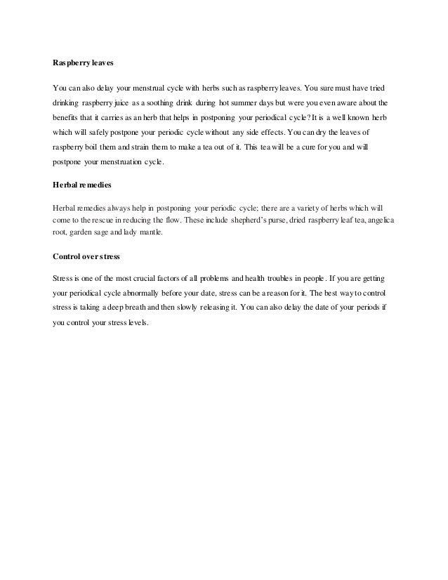How To Delay periods - HealthyRandomFact Com