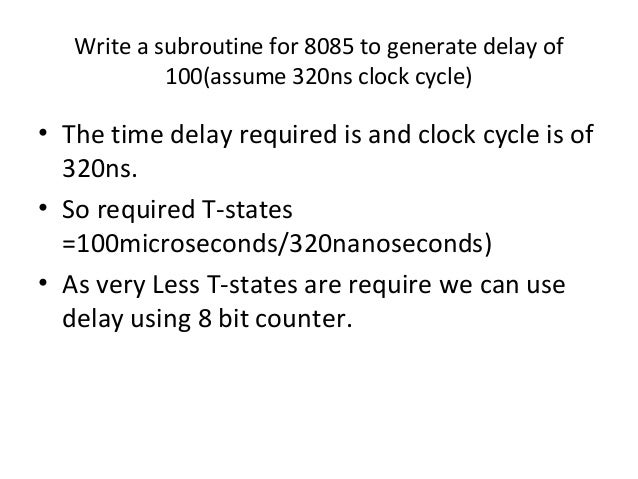 Delay routine