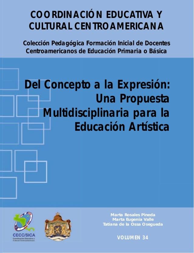 COORDINACIÓN EDUCATIVA Y CULTURAL CENTROAMERICANA Colección Pedagógica Formación Inicial de Docentes Centroamericanos de E...