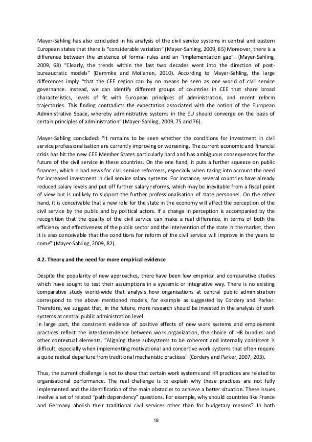 impact of the public sector reform on employee relations essay White paper on human resource management in the public strive for good employee relations and to work between the public service, public sector and.