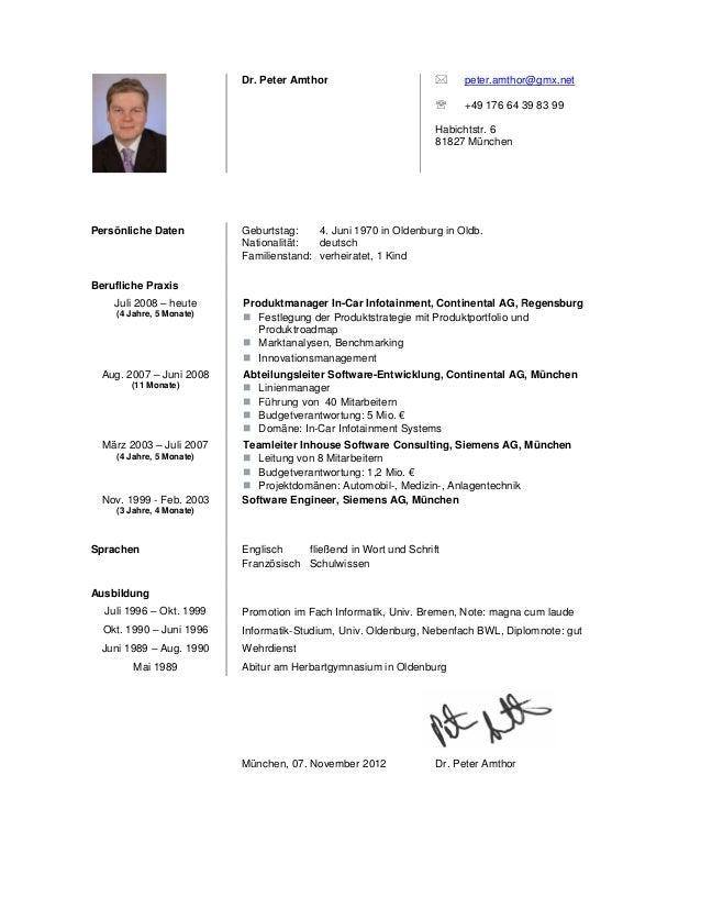 dr peter amthor - Lebenslauf Nationalitat