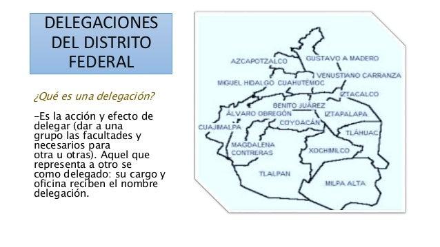 delegaciones del distrito federal