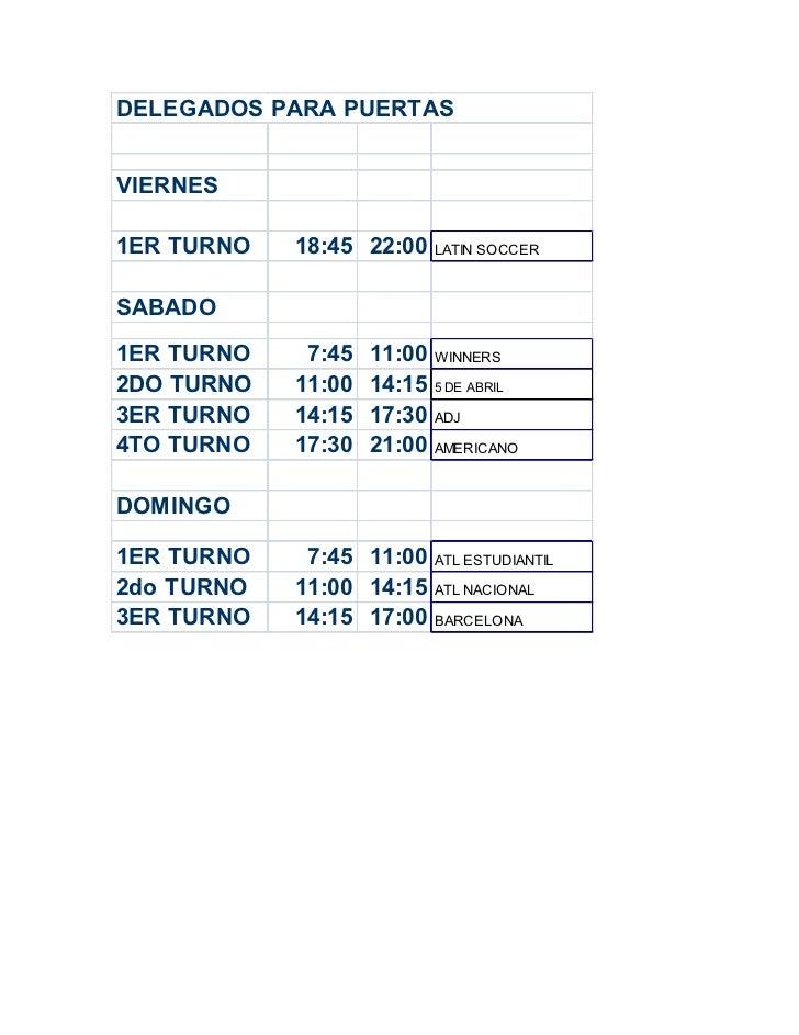 Delegados para puertas 6-7-8 ENERO 2012