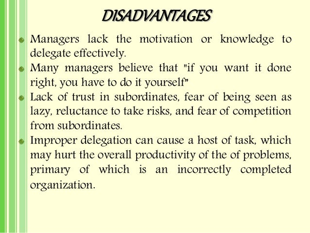 What are the Barriers to the Delegation of Authority in Organizations?