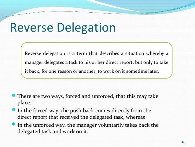 Delegation The Art Of Managing