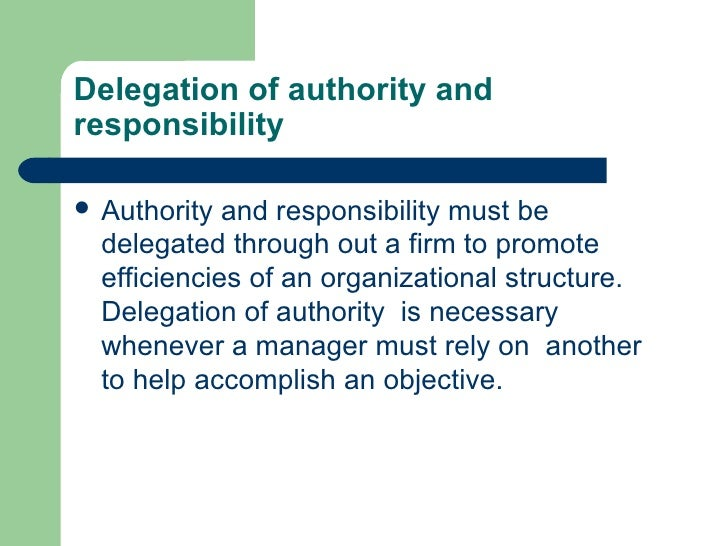 delegation of authority and decentralisation pdf