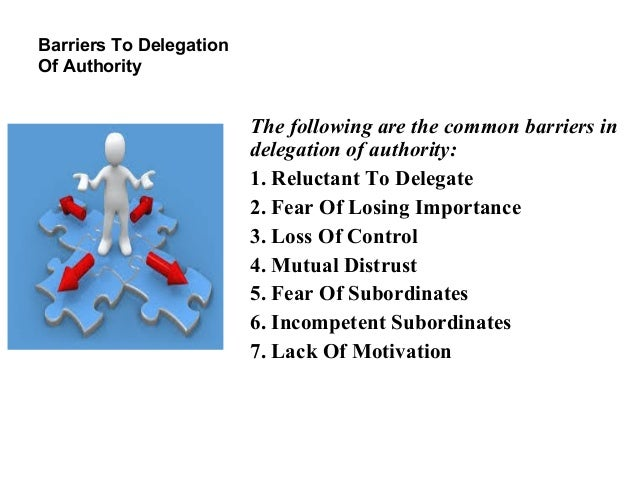 effective delegation of authority