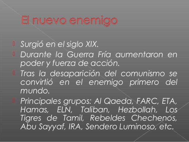 Del enemigo comunista al enemigo terrorista