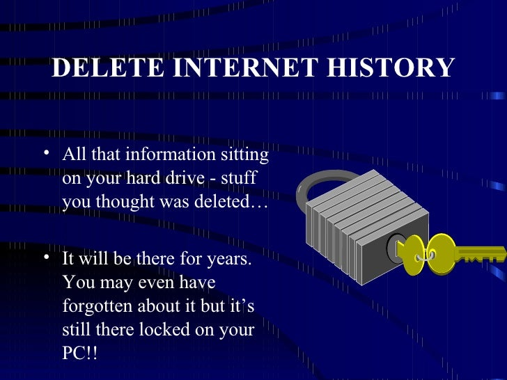 how to delete internet history
