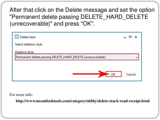 how to delete emails stuck in the outlook.outbox