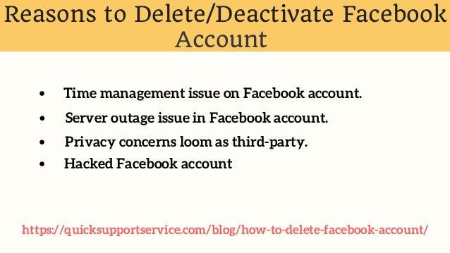 deactivate my facebook