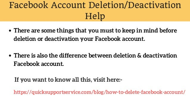 Deleted & Deactivate My Facebook Account Permanently