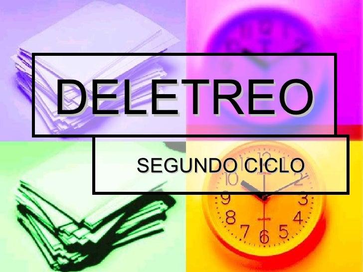 DELETREO SEGUNDO CICLO