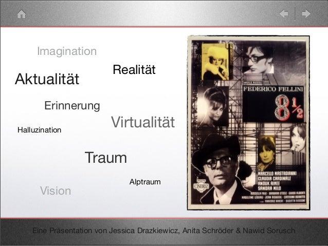 Imagination Erinnerung Realität Vision Halluzination Traum Alptraum Eine Präsentation von Jessica Drazkiewicz, Anita Schrö...