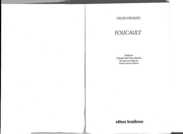 Deleuze, gilles. foucault