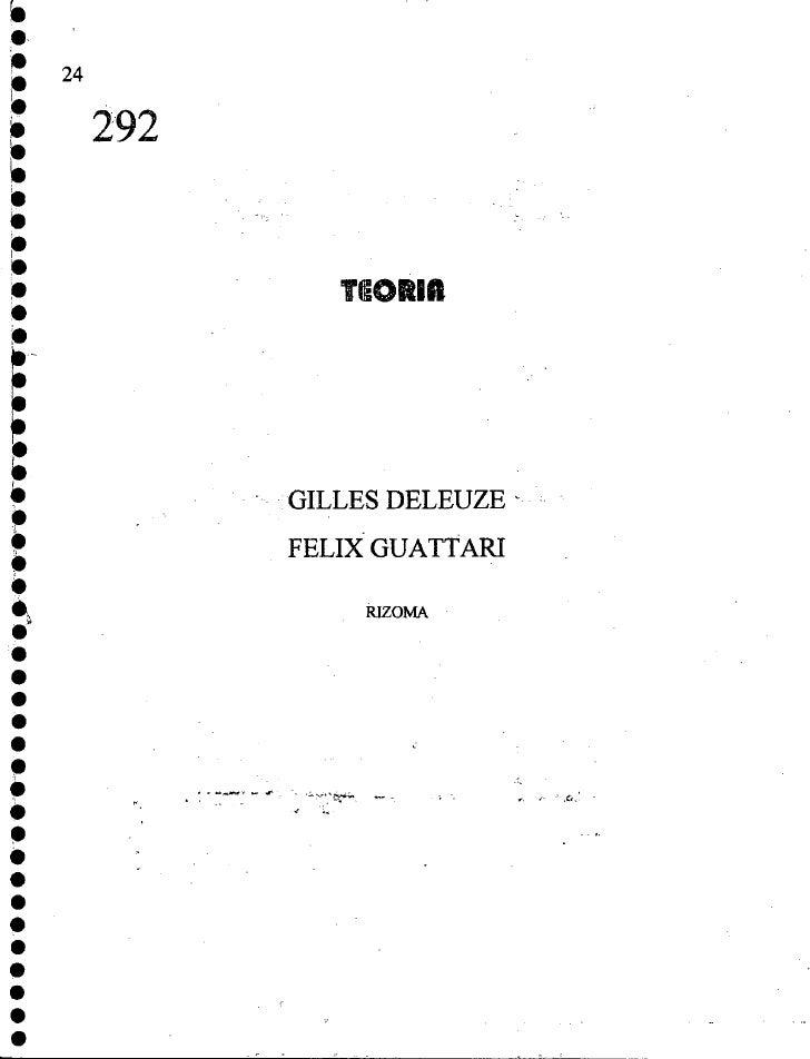 Deleuze, guattari   rizoma