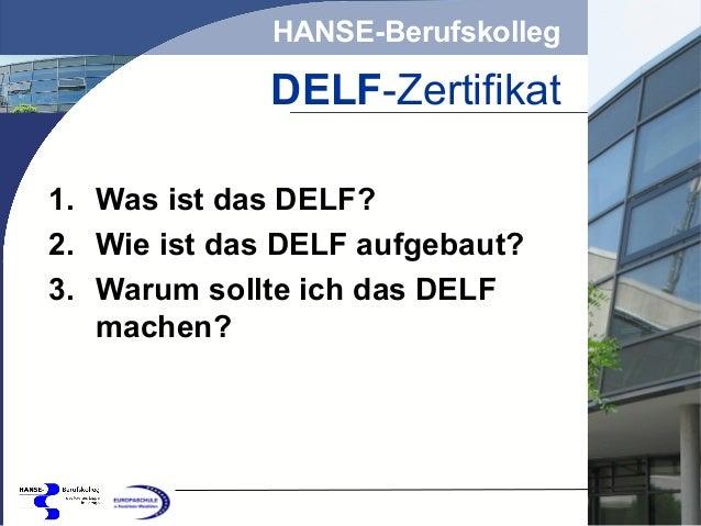 Sprachzertifizierung Am Hanse Berufskolleg Lemgo Delf Französisch