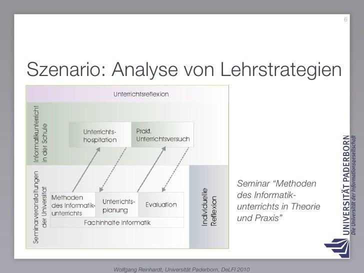 """6     Szenario: Analyse von Lehrstrategien                                                              Seminar """"Methoden ..."""